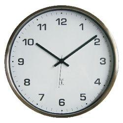Funkwanduhr Edelstahl WT8900 Durchmesser 33cm