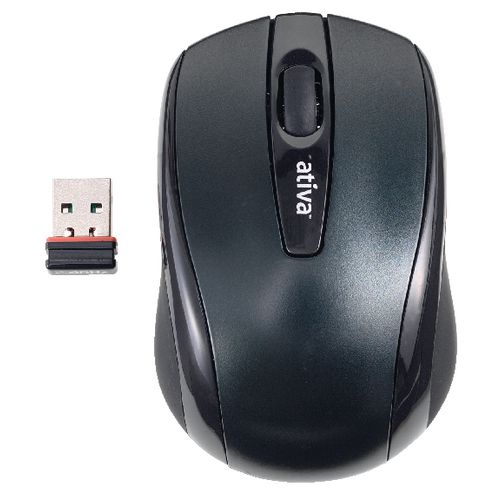 Maus Ativa AT-2306 schnurlos schwarz - Maus Ativa AT-2306 schnurlos schwarz
